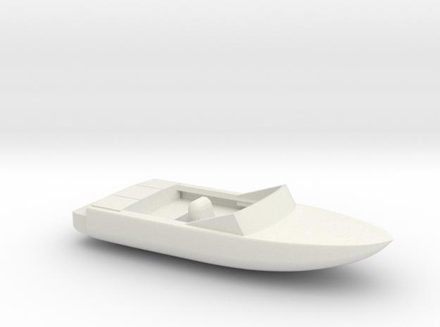 Pleasure Boat - HOscale in White Natural Versatile Plastic