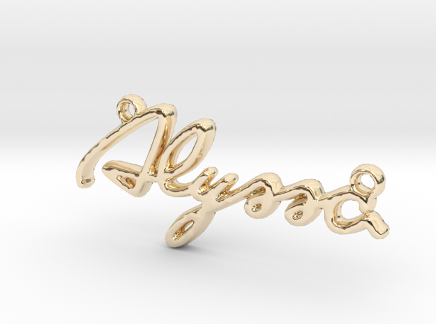 ALYSSA Script First Name Pendant in 14k Gold Plated