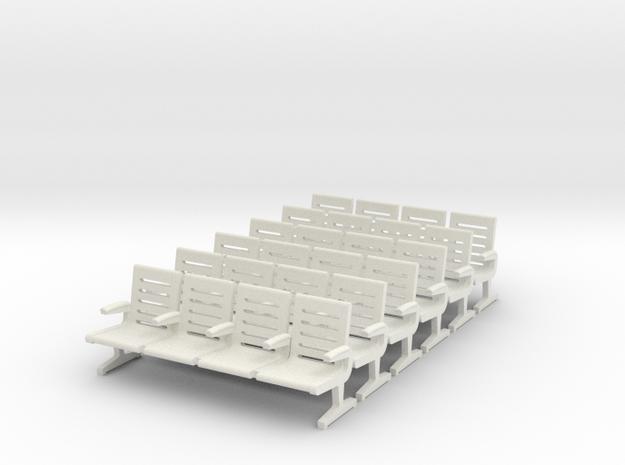Modern Seat X 6 - OO Scale
