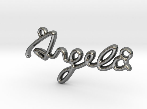 ANGELA Script First Name Pendant in Premium Silver