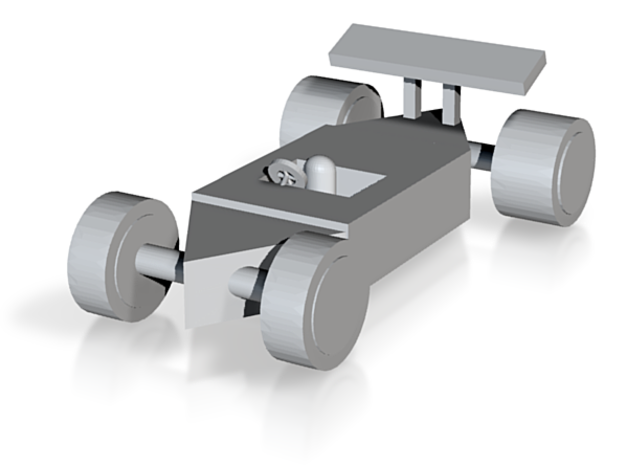 f1 race car in White Strong & Flexible: Small
