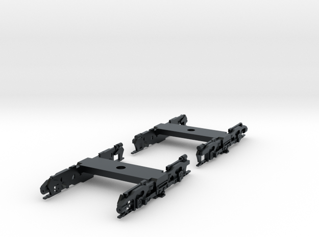 R32 N Scale Trucks for Subway Car 1pr in Black Hi-Def Acrylate