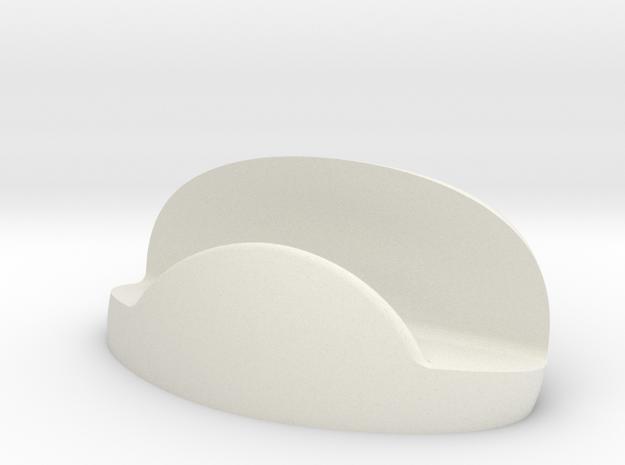 Business Card Holder V1 in White Natural Versatile Plastic