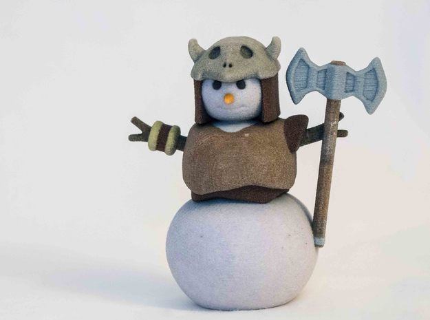 Snowman Barbarian in Full Color Sandstone