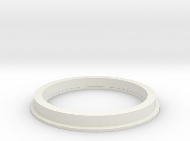 20160917FlatRimPortalFlange in White Natural Versatile Plastic