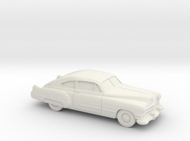 1/87 1949-52 Cadillac Series 62 Fastback in White Natural Versatile Plastic