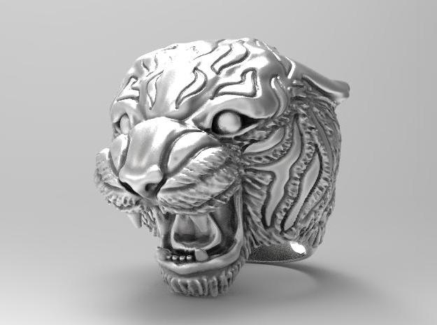 Tiger ring size 11 in Antique Silver