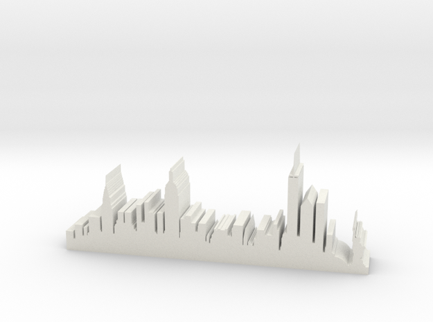 "NY Skyline 5"" Long in White Strong & Flexible"