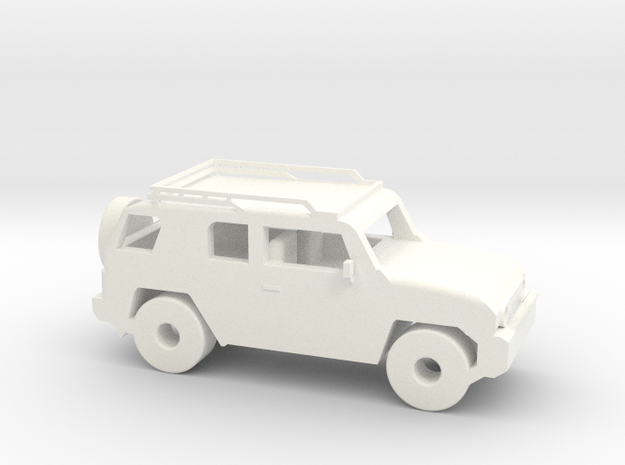 FJ Cruiser 6'' Long in White Strong & Flexible Polished