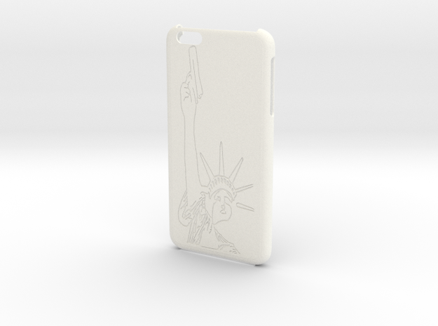 iPhone 6+ Plus - Lady Liberty Case in White Strong & Flexible Polished