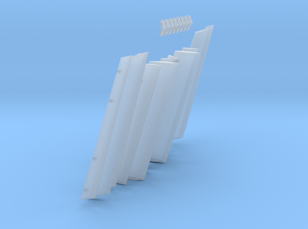1/100 Scale 747 Trailing Edge Flaps in Frosted Extreme Detail