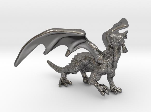 Dragon Figurine in Polished Nickel Steel