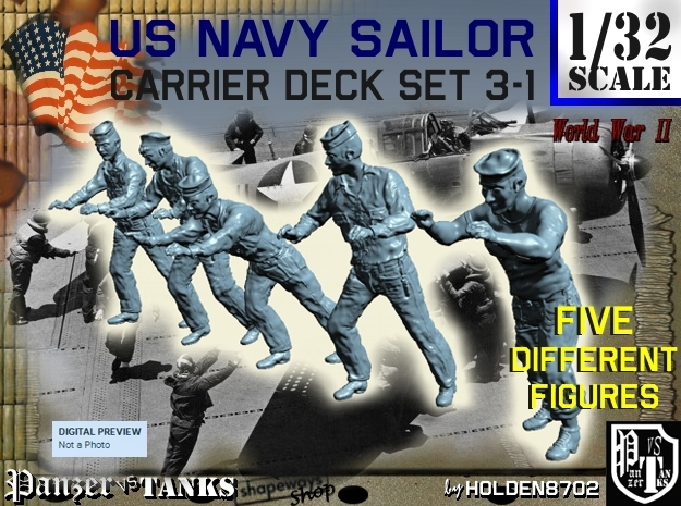 1-32 US Navy Carrier Deck Set 3-1