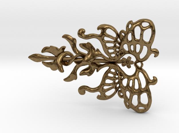Butterfly Pendant in Raw Bronze