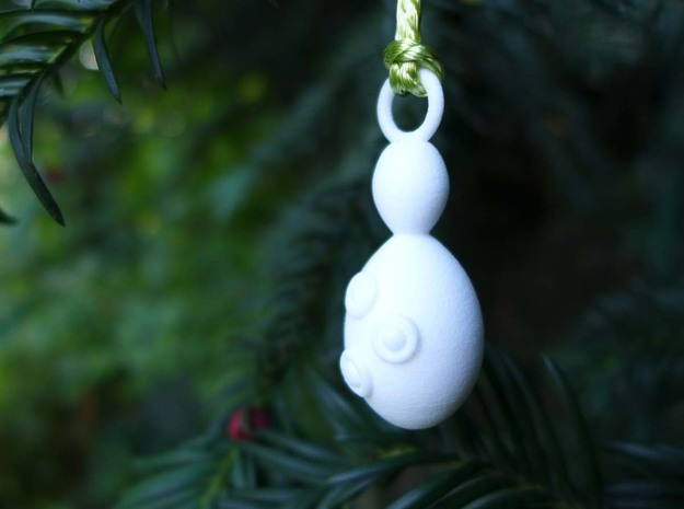 Saccharomyces Ornament - Science Gift in White Processed Versatile Plastic