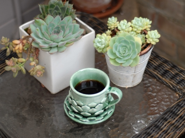 Succulent Mug in Gloss Oribe Green Porcelain