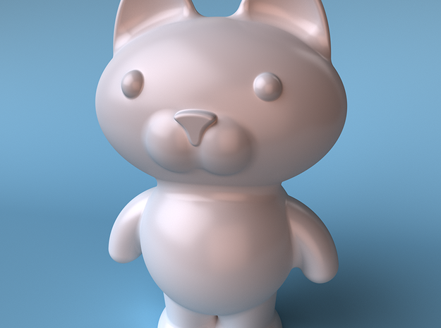 Bearcat toy figure 3d printed