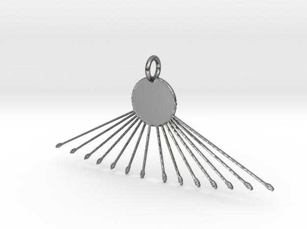 Aten Pendant in Polished Silver