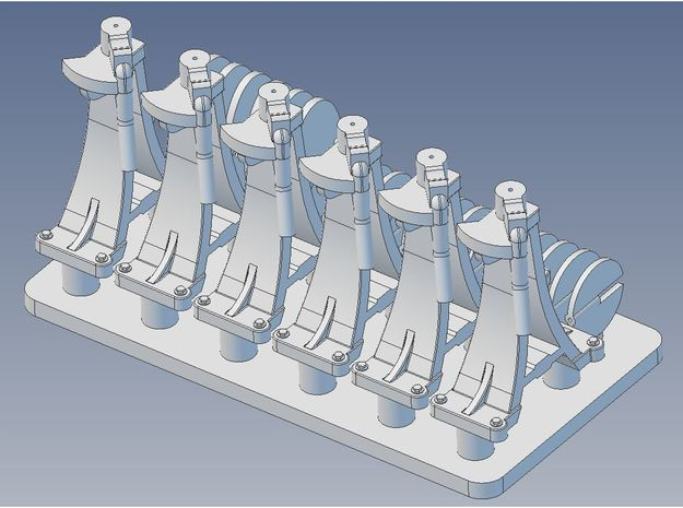 CPR Switchstand X 6 1 29 G in Smooth Fine Detail Plastic