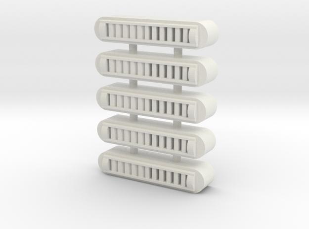 Duct Vent(5) - 72:1 Scale in White Natural Versatile Plastic