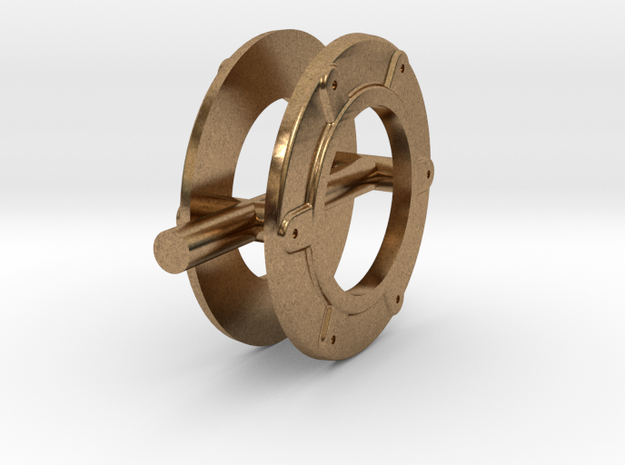 Evangeline_ring in Raw Brass