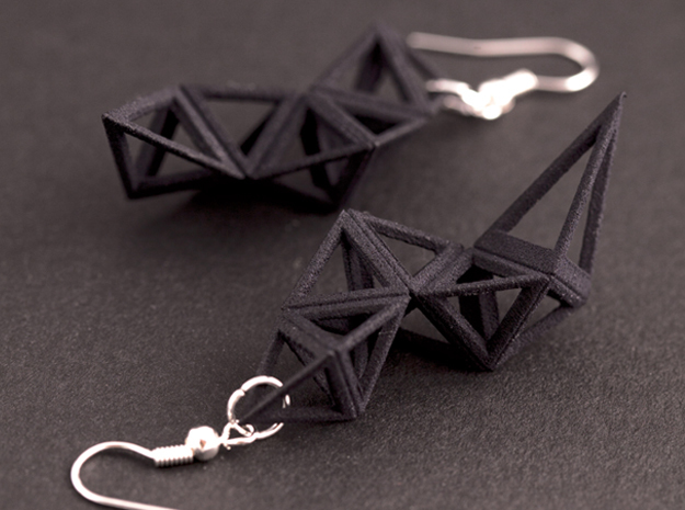 CRYSTAL - earrings in Black Natural Versatile Plastic
