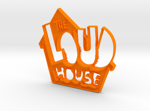 Loud House Logo in Orange Processed Versatile Plastic
