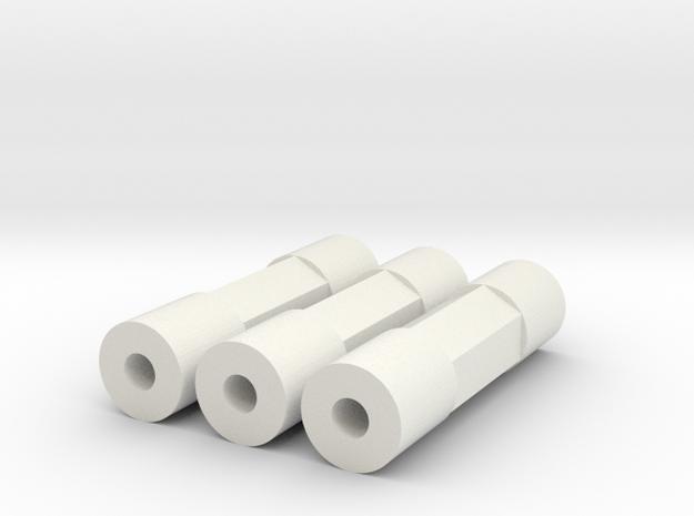 MRB 5 Chassisstreben 3er Set in White Natural Versatile Plastic
