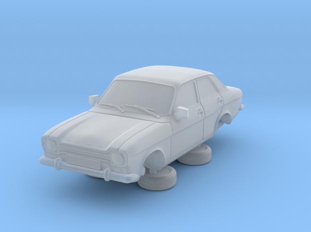 1-76 Escort Mk 1 4 Door Standard in Smooth Fine Detail Plastic