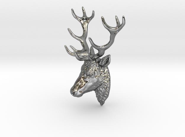 Deer head pendant