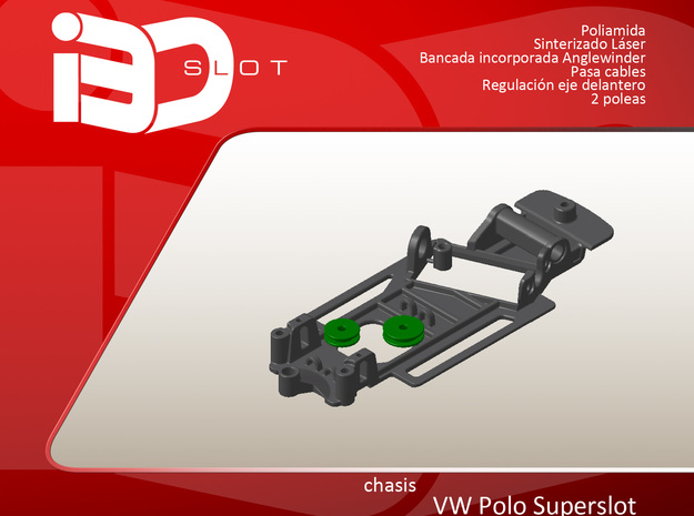Chasis para VW Polo Superslot in White Natural Versatile Plastic