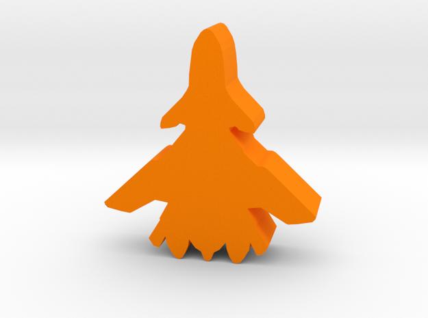 Game Piece, UN 2040 Aerospace Fighter in Orange Processed Versatile Plastic