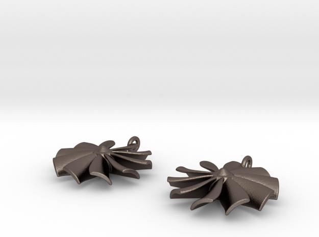 Turbine earrings 3d printed