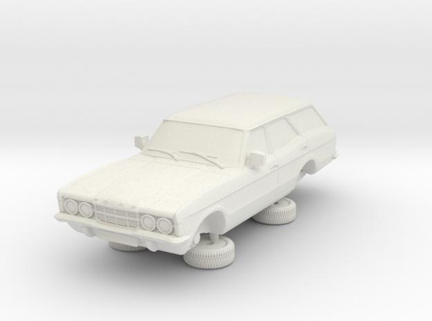 1-87 Ford Cortina Mk3 4 Door Estate in White Natural Versatile Plastic