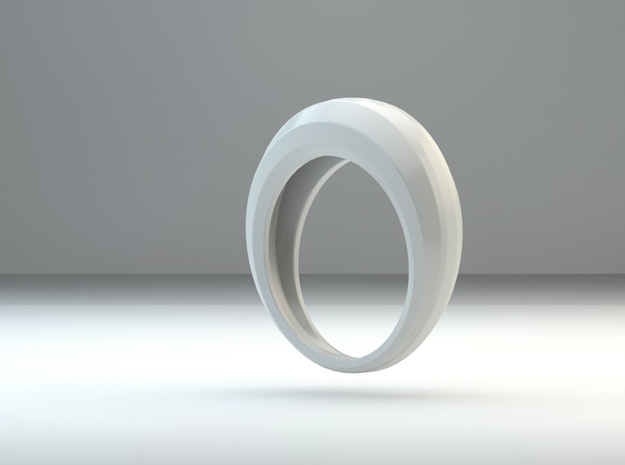 Step ring in White Natural Versatile Plastic