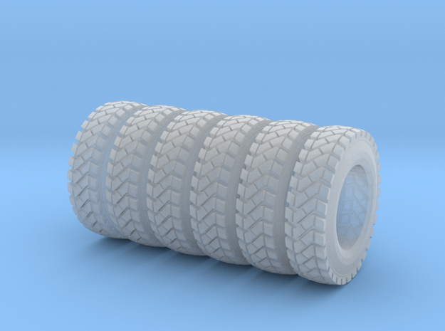 Tire Set for Mattia in Smooth Fine Detail Plastic