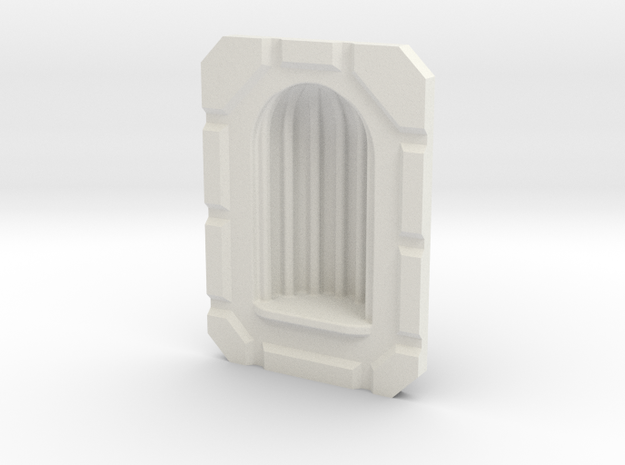 28mm Alcove MDF Building Accessory in White Natural Versatile Plastic