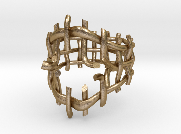Breakout Ring in Polished Gold Steel: 5 / 49