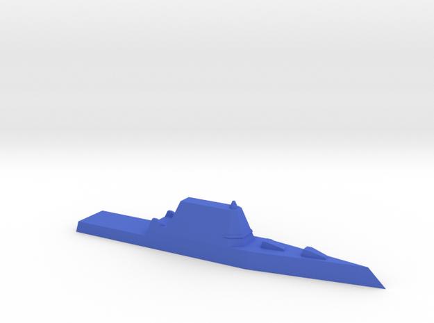 1/1200 Zumwalt in Blue Processed Versatile Plastic