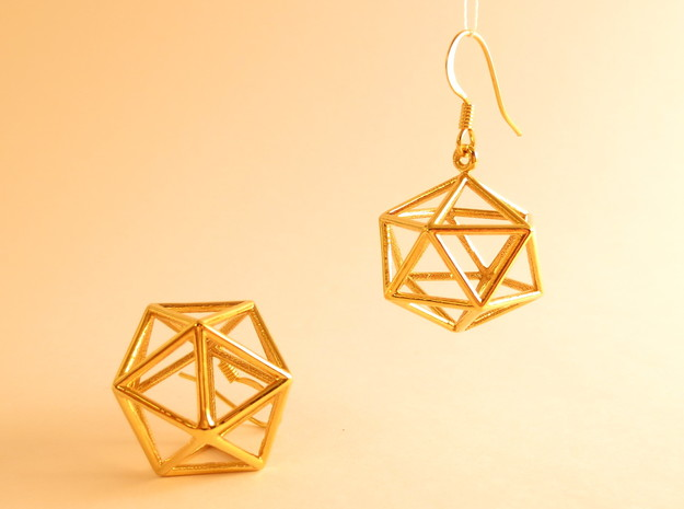 Water earrings in 18k Gold Plated