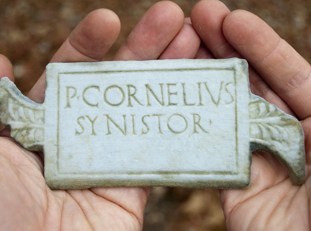 "P. Cornelius / Synistor Inscription (6"") 3d printed the print."