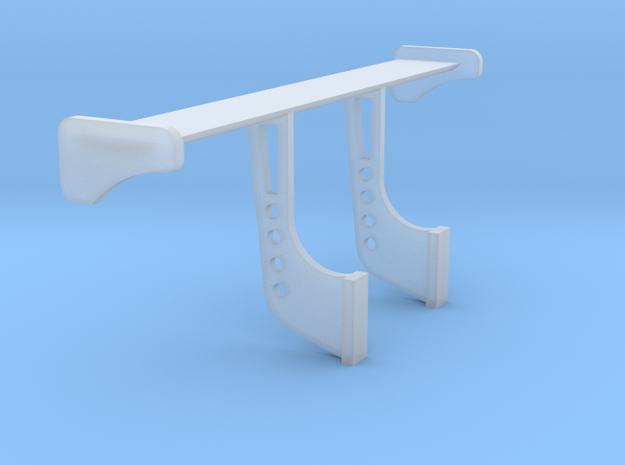 1/24 1/25 Rear Wing 2 in Smooth Fine Detail Plastic