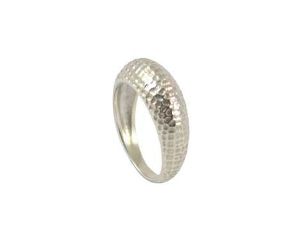 Skin ring in Polished Silver: Medium