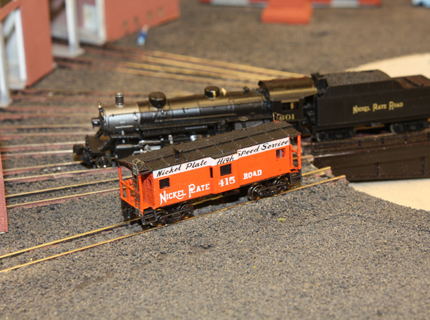 Bay Window Caboose - Zscale in Smooth Fine Detail Plastic