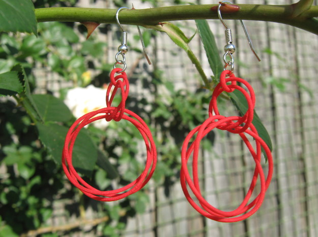 Knots Earrings 3d printed