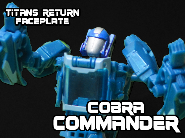 Cobra Commander Face (Titans Return) in Smooth Fine Detail Plastic
