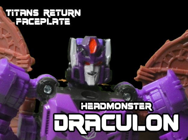 Headmonster Draculon Face (Titans Return) in Frosted Ultra Detail