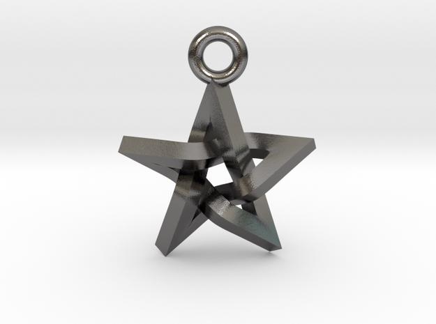 """Penrose Pentagram Pendant .7"""" in Polished Nickel Steel"""