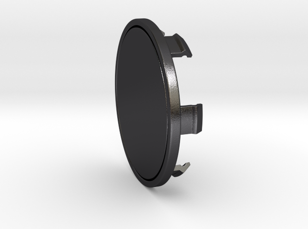 85mm Cap in Polished and Bronzed Black Steel