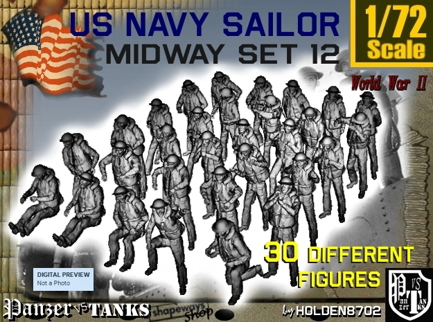 1-72 US Navy MIDWAY Set 12 in Frosted Ultra Detail